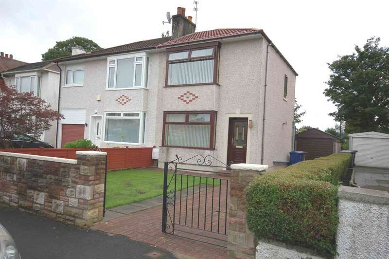 2 Bedrooms Semi Detached House for sale in Clydesdale Avenue, Paisley, Renfrewshire PA3 4JN