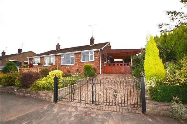 2 Bedrooms Semi Detached Bungalow for sale in Parkstone Avenue, Newcastle, Newcastle-under-Lyme