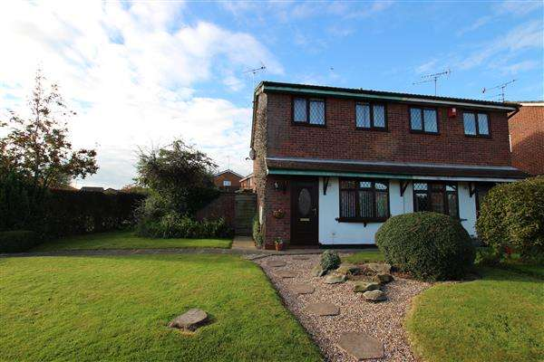 2 Bedrooms Semi Detached House for sale in Rushcliffe Drive, Meir Park, Stoke on Trent