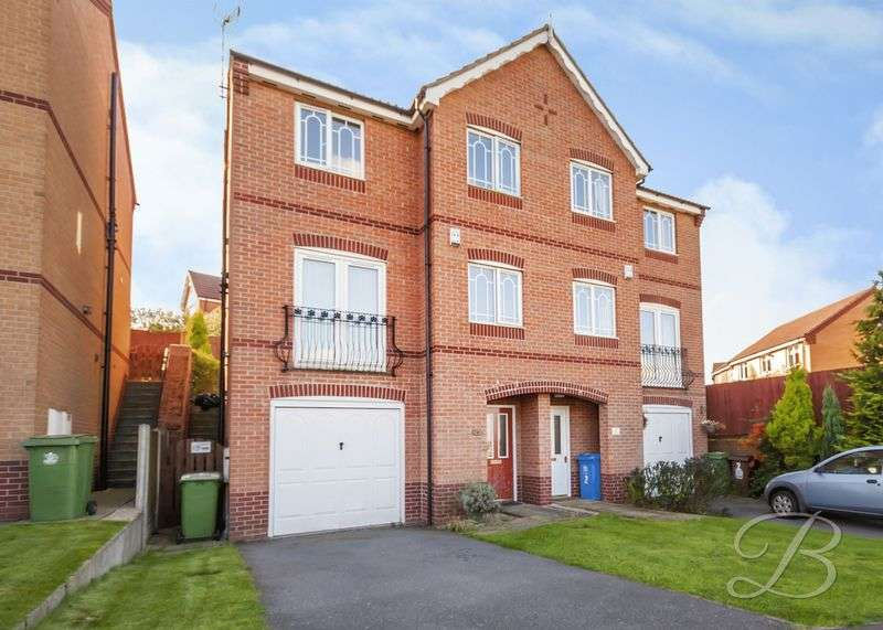 3 Bedrooms Semi Detached House for sale in Butterwick Close, Forest Town