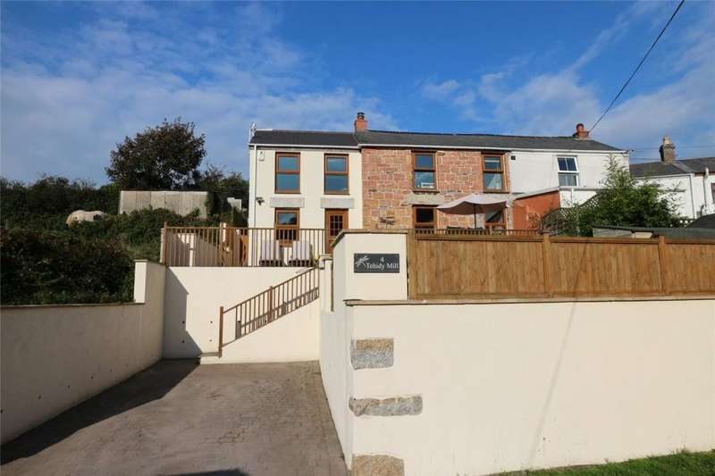 4 Bedrooms End Of Terrace House for sale in Tehidy Mill Cottages, Roscroggan, Camborne