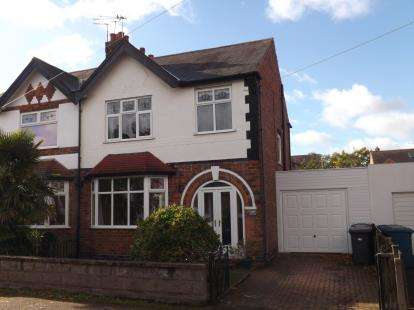 3 Bedrooms Semi Detached House for sale in Rutland Road, West Bridgford, Nottingham, Nottinghamshire