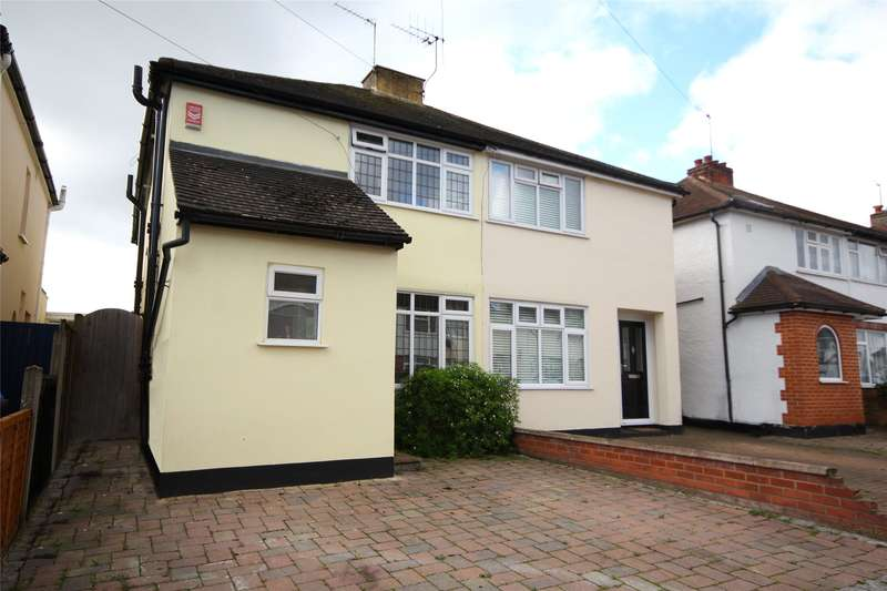 3 Bedrooms Semi Detached House for sale in Weston Avenue, Addlestone, Surrey, KT15