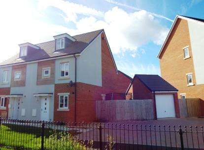 3 Bedrooms Semi Detached House for sale in Oakhanger Lane Kingsway, Quedgeley, Gloucester, Gloucestershire