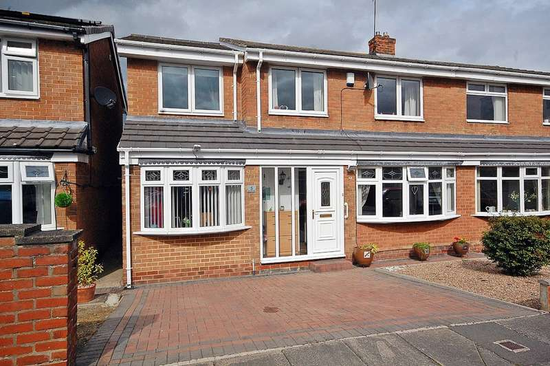4 Bedrooms Semi Detached House for sale in Warkworth Road, Newton Hall, Durham