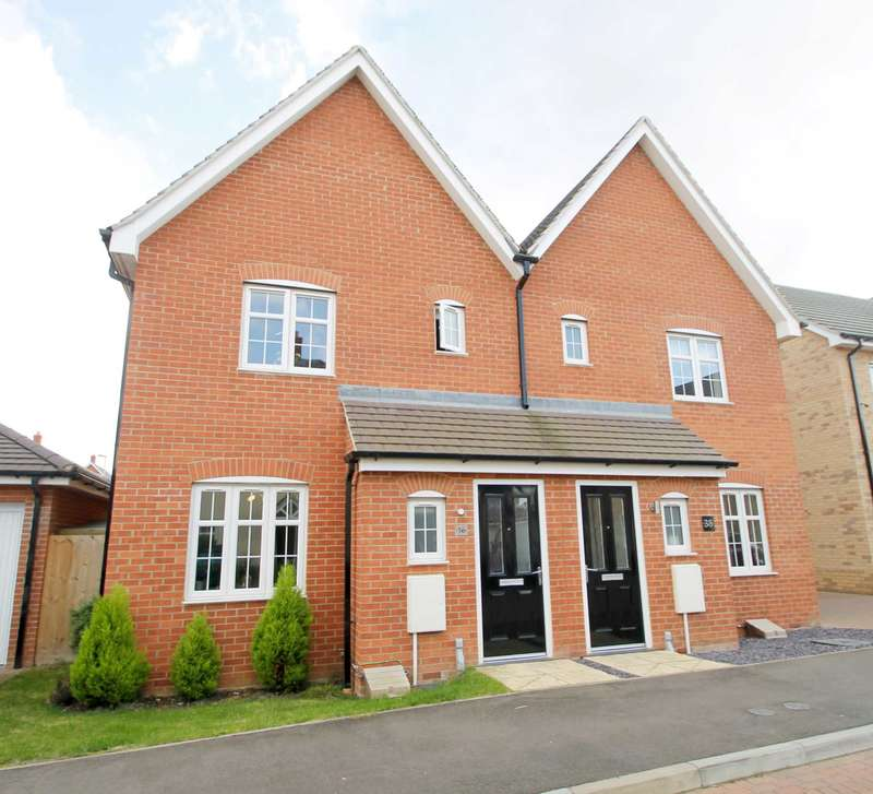 3 Bedrooms Semi Detached House for sale in Chamberlain Way, Cardington