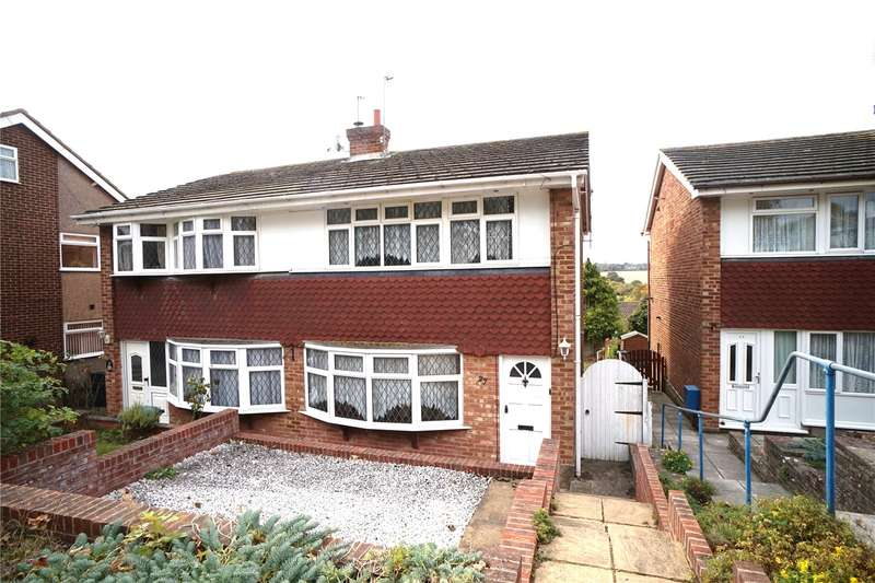 3 Bedrooms Semi Detached House for sale in Castlefields, Istead Rise, Gravesend, Kent, DA13