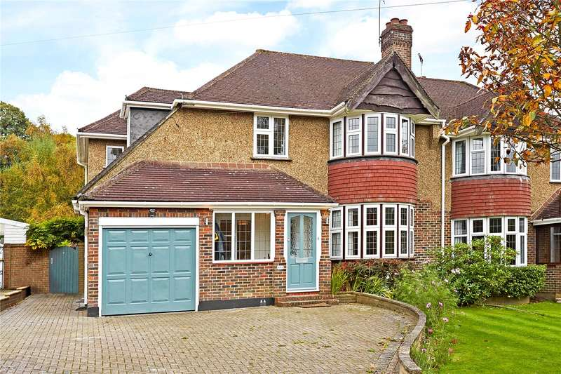 4 Bedrooms Semi Detached House for sale in Shelvers Way, Tadworth, Surrey, KT20