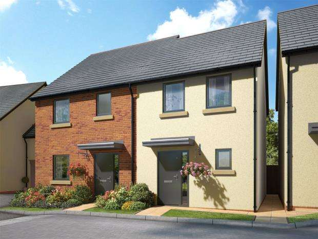 2 Bedrooms Semi Detached House for sale in Meldon Fields, Okehampton, Devon