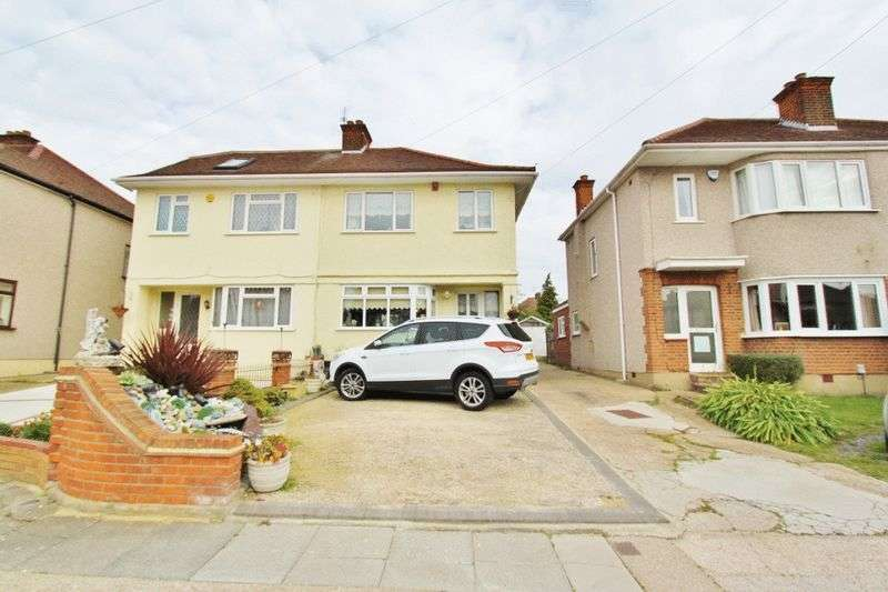 3 Bedrooms Semi Detached House for sale in Sheila Close, Romford, RM5