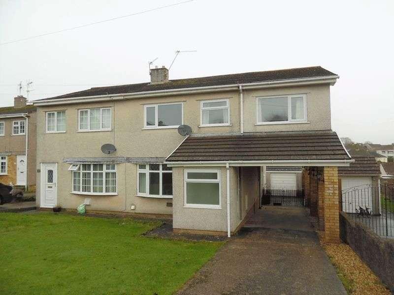4 Bedrooms Semi Detached House for sale in Heol-y-Bardd Bridgend CF31 4TD