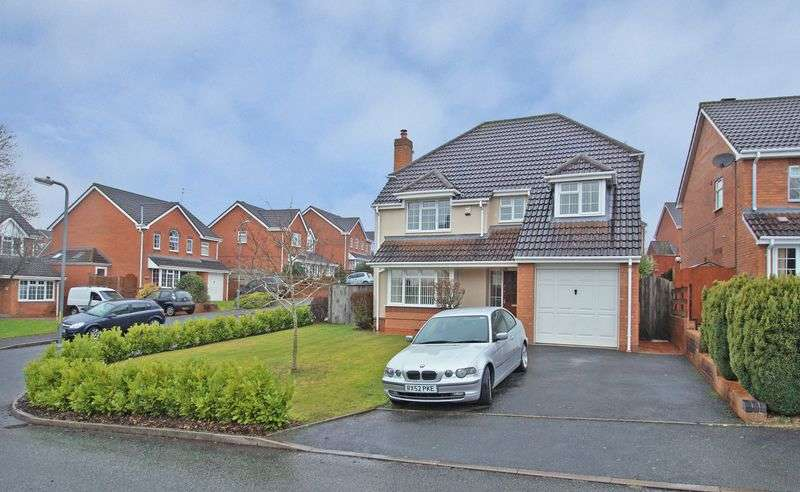 4 Bedrooms Detached House for sale in Moorcroft Close, Walkwood. Redditch
