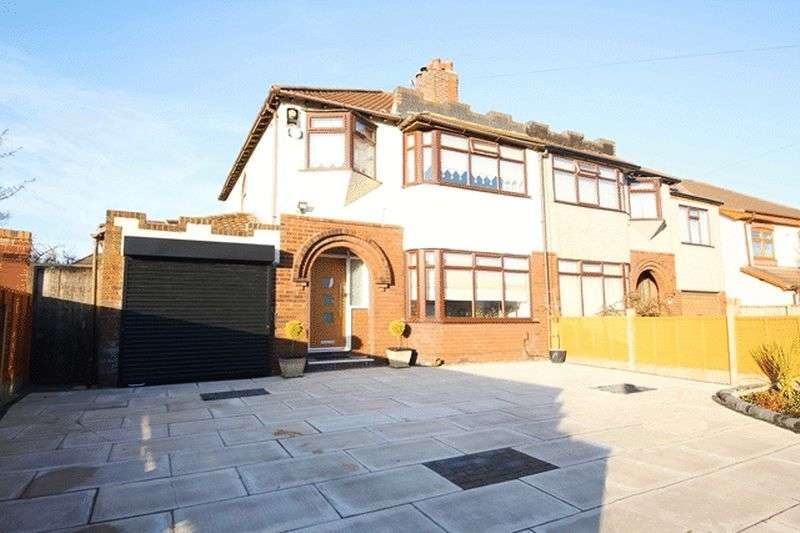 3 Bedrooms Semi Detached House for sale in Boundary Drive, Hunts Cross, Liverpool, L25