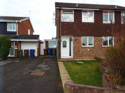 2 Bedrooms Semi Detached House for sale in Kielder Close, Heath Hayes, Cannock, Staffordshire