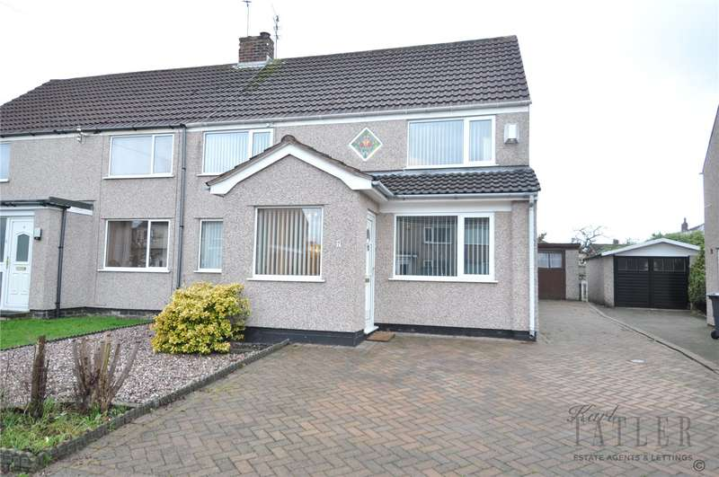 3 Bedrooms Semi Detached House for sale in Hillview Drive, Upton, Wirral