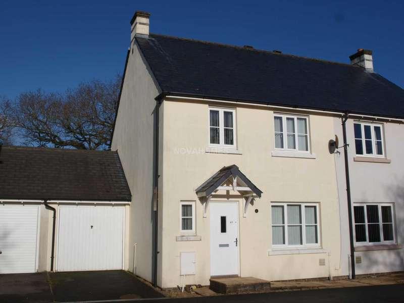 3 Bedrooms Semi Detached House for sale in Boconnoc Avenue, Callington, PL17 7TN