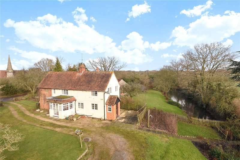 3 Bedrooms Semi Detached House for sale in Church Cottages, Church Lane, Barkham, Wokingham, RG40