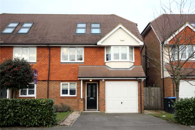 5 Bedrooms Semi Detached House for sale in Grange Road, New Haw, Surrey, KT15