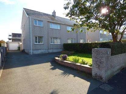 3 Bedrooms Semi Detached House for sale in Lon Y Deri, Eithinog, Bangor, Gwynedd, LL57