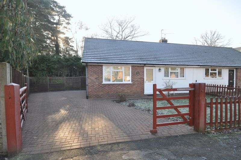 2 Bedrooms Semi Detached Bungalow for sale in Wickham Road, Church Crookham, Fleet