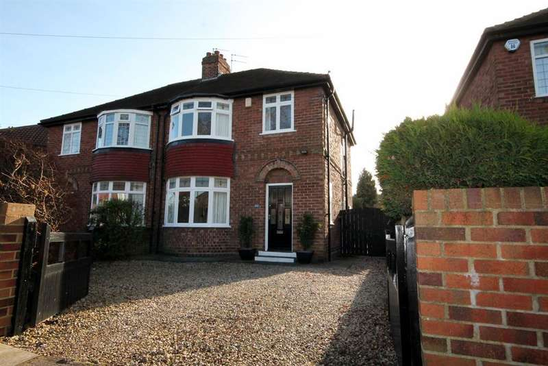 3 Bedrooms Semi Detached House for sale in Hamilton Drive West, York, YO24 4PL
