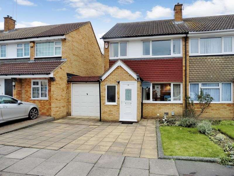 3 Bedrooms Semi Detached House for sale in Denton Close, Luton