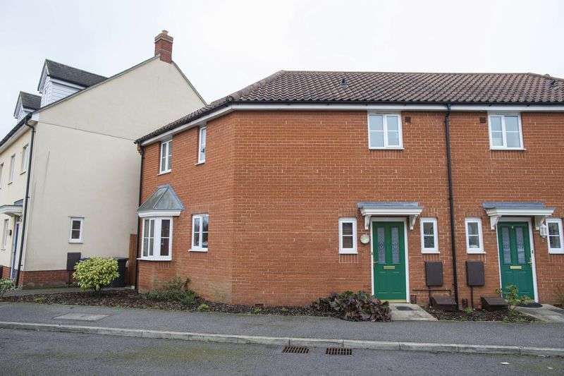 3 Bedrooms Terraced House for sale in Blackbird Drive, Bury St Edmunds