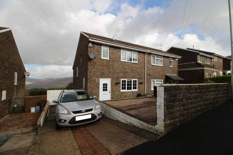 3 Bedrooms Semi Detached House for sale in Hilltop Avenue, Cilfynydd, Pontypridd CF37 4HZ