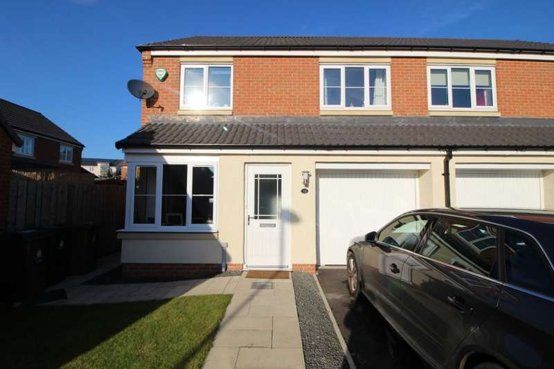 3 Bedrooms Semi Detached House for sale in Dunnock Place, Wideopen, Newcastle Upon Tyne, NE13
