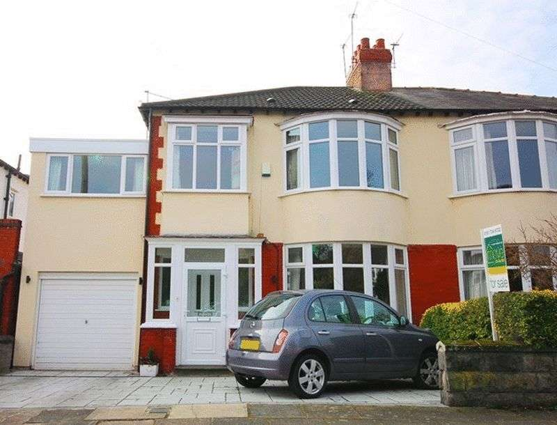 4 Bedrooms Semi Detached House for sale in Allangate Road, Grassendale, Liverpool, L19