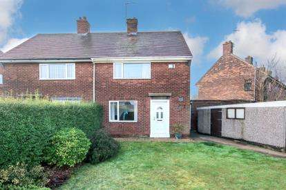 2 Bedrooms Semi Detached House for sale in Birchwood Drive, Ravenfield, Rotherham