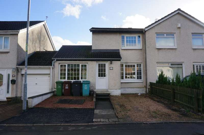 3 Bedrooms Semi Detached House for sale in Criagelvan Court, Condorrat, Cumbernauld G67