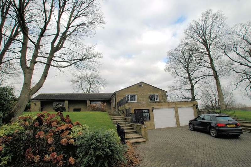 4 Bedrooms Detached Bungalow for sale in Cock Hill Lane, Shelf, Halifax HX3