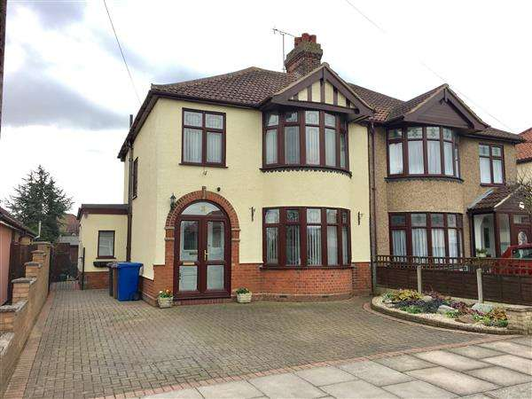 3 Bedrooms Semi Detached House for sale in Trent Road, Ipswich