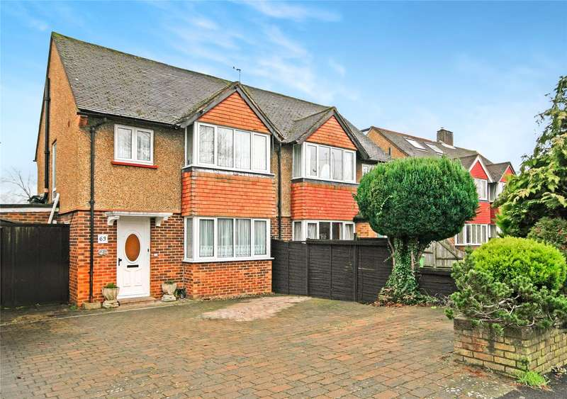 3 Bedrooms Semi Detached House for sale in Burwood Road, Hersham, Walton-on-Thames, Surrey, KT12