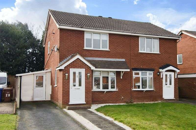 2 Bedrooms Semi Detached House for sale in Charterfield Drive, Heath Hayes, Cannock