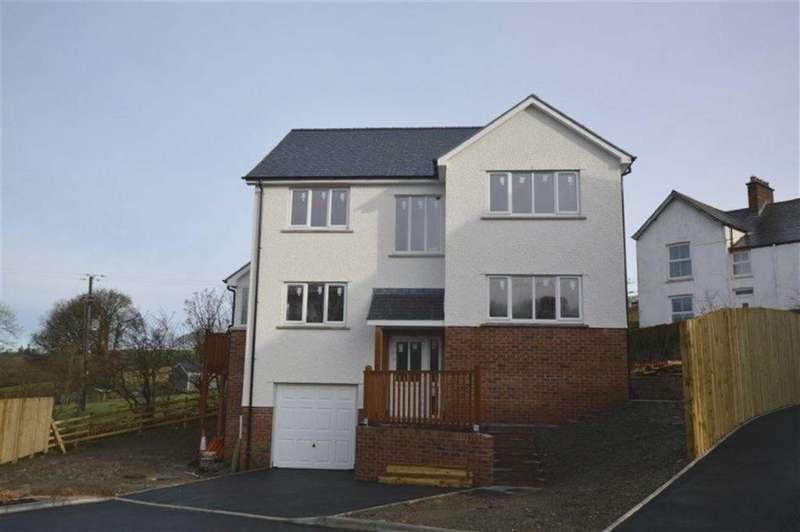 4 Bedrooms Detached House for sale in Plot 1, Adj To Ty'r Ysgol, Lledrod, Aberystwyth, Ceredigion, SY23