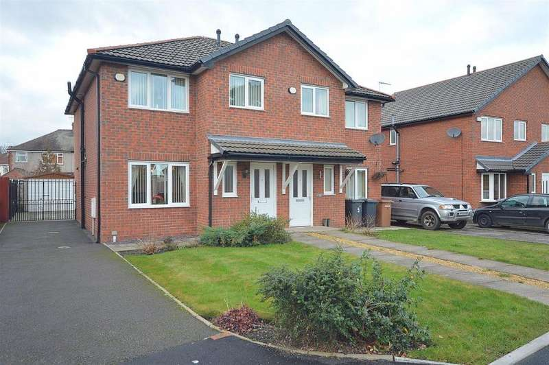 3 Bedrooms Semi Detached House for sale in Russet Close, Crewe