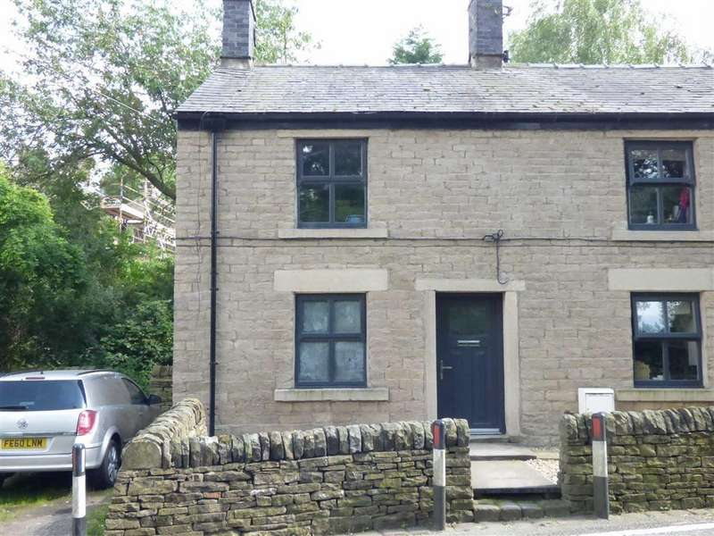 2 Bedrooms End Of Terrace House for sale in Marple Road, Chisworth, Glossop, Derbyshire, SK13