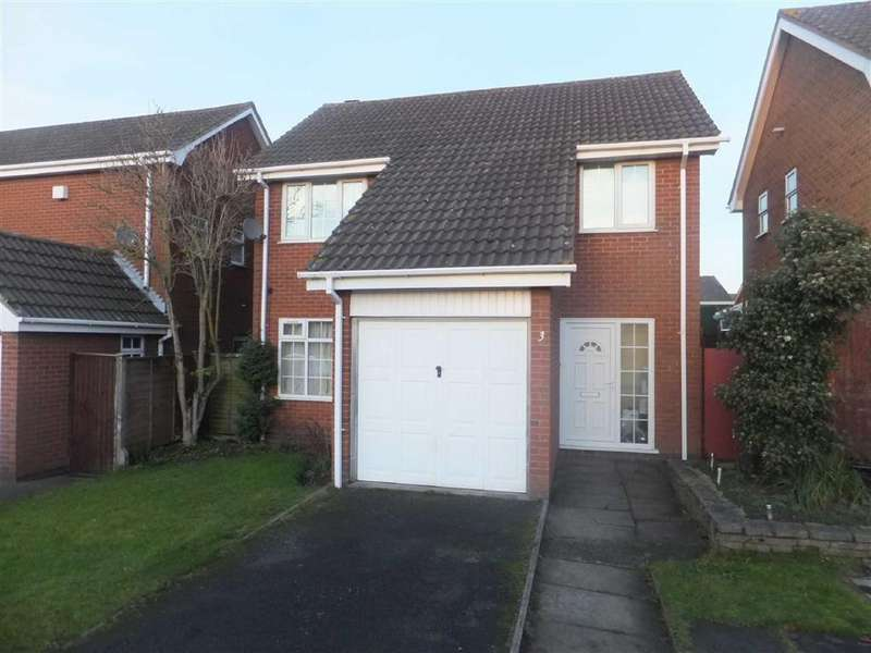 3 Bedrooms Detached House for sale in Moorcroft Close, Nuneaton, Warwickshire, CV11