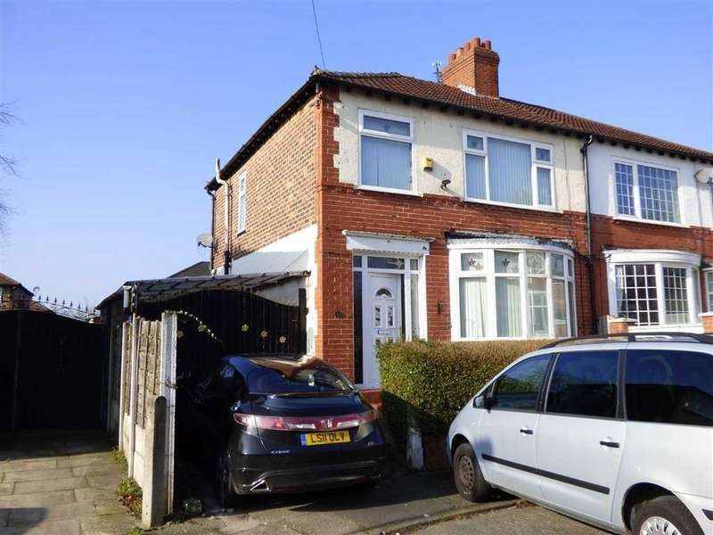 3 Bedrooms Semi Detached House for sale in Lynton Drive, Burnage, Manchester, M19