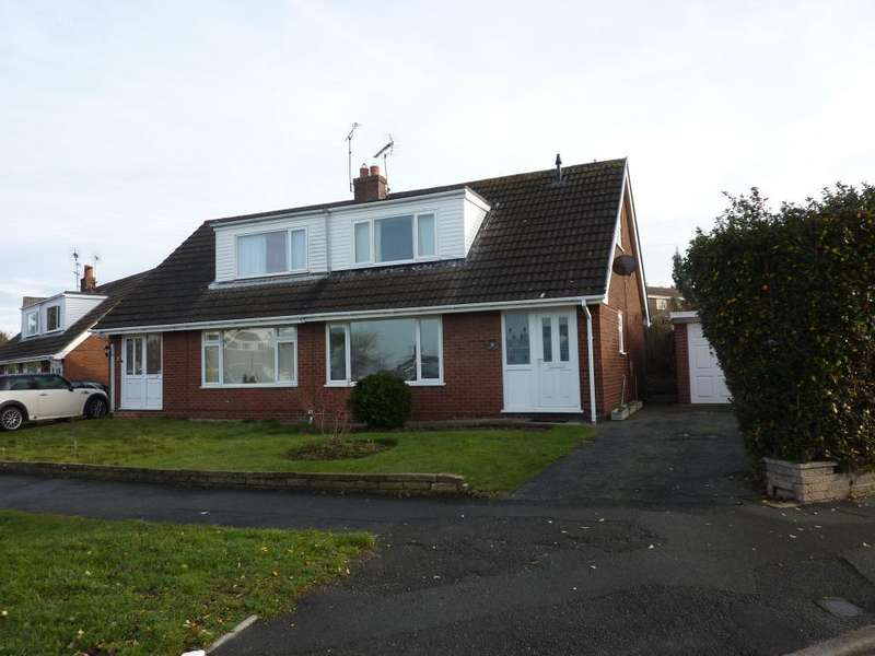 3 Bedrooms Semi Detached House for rent in Troon Way, Upper Colwyn Bay, Conwy, LL29 6AP