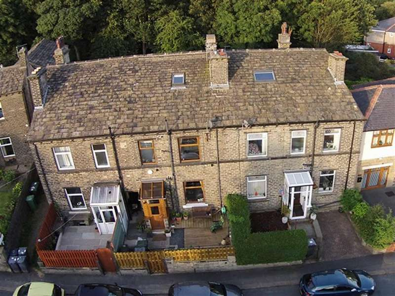 3 Bedrooms Terraced House for sale in Quarmby Road, Quarmby, Huddersfield, HD3