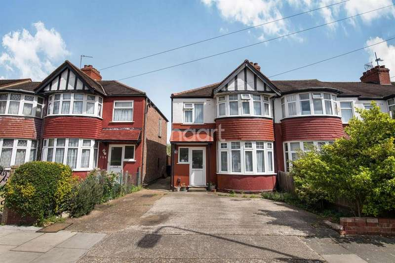 3 Bedrooms End Of Terrace House for sale in Lancelot Road, Wembley Central