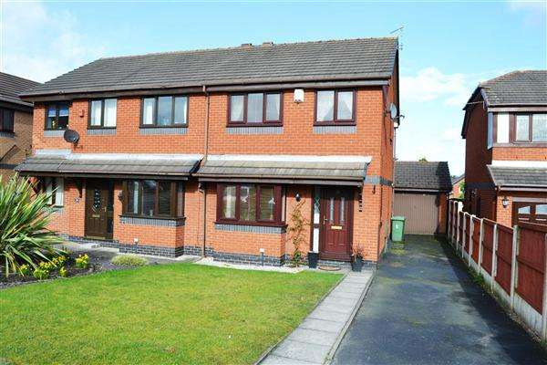 3 Bedrooms Semi Detached House for sale in Clough House Drive, Leigh
