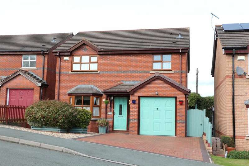 4 Bedrooms Detached House for sale in Stable Gates, Johnstown, Wrexham, LL14