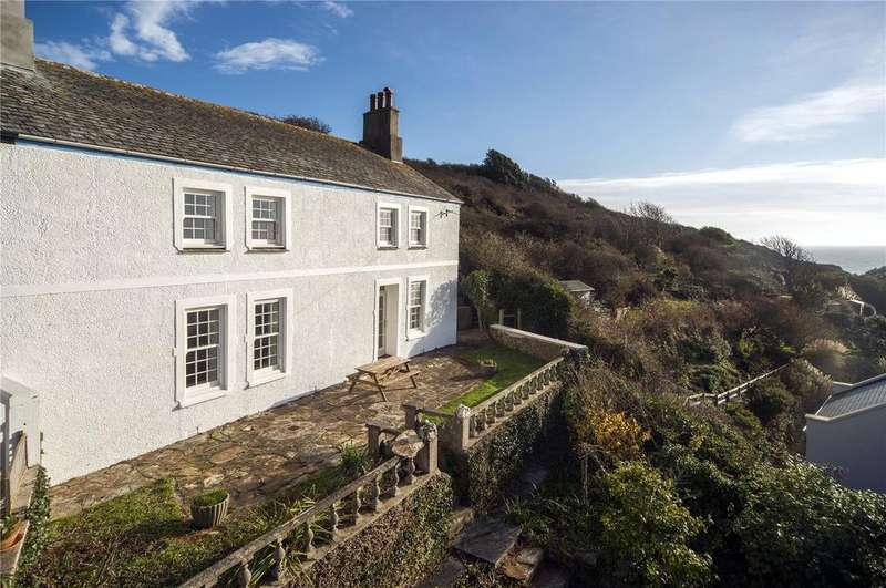 4 Bedrooms End Of Terrace House for sale in Coastguard Terrace, Portloe, The Roseland, Cornwall, TR2