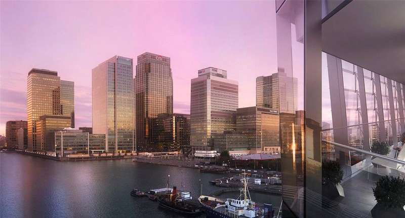 1 Bedroom Flat for sale in Dollar Bay, Marsh Wall, Canary Wharf, London, E14