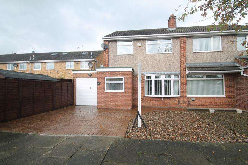 3 Bedrooms Semi Detached House for sale in Cleadon Avenue, Billingham