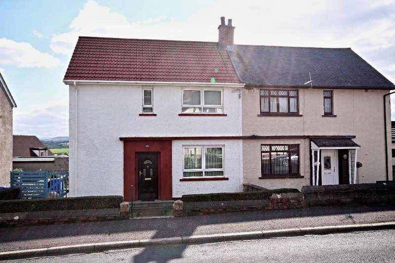 3 Bedrooms Semi Detached House for sale in Broom Crescent, Ochiltree, Ayrshire, KA18 2PL